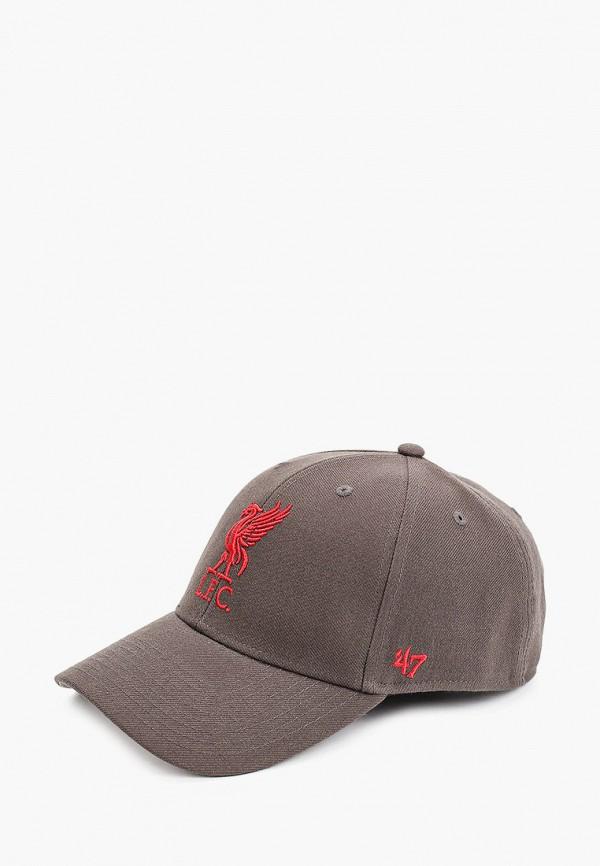 женская бейсболка '47 brand, серая