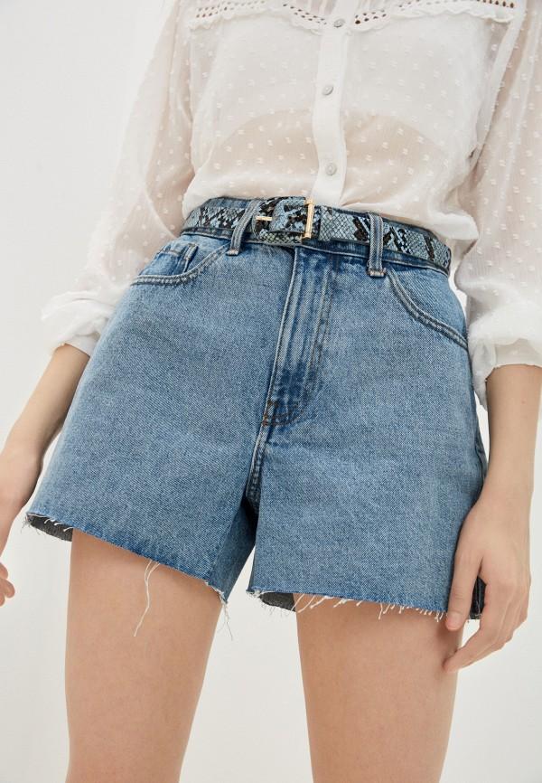 женские джинсовые шорты jacqueline de yong, голубые