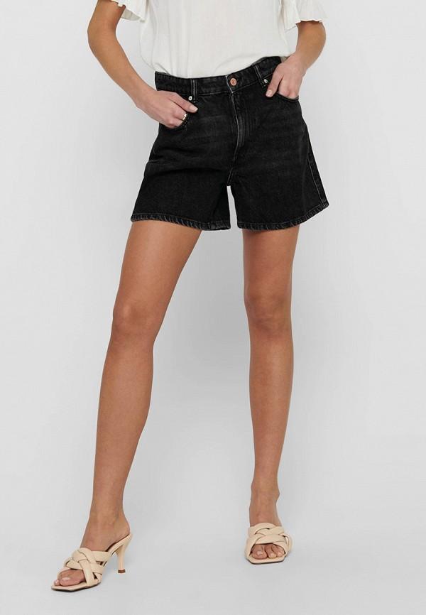 женские джинсовые шорты only, черные