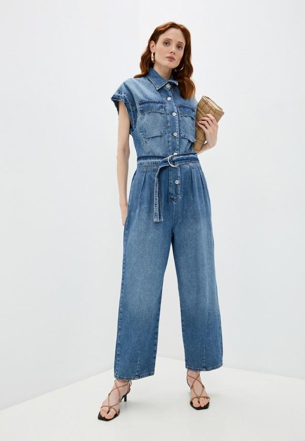 женский джинсовые комбинезон liu jo, голубой