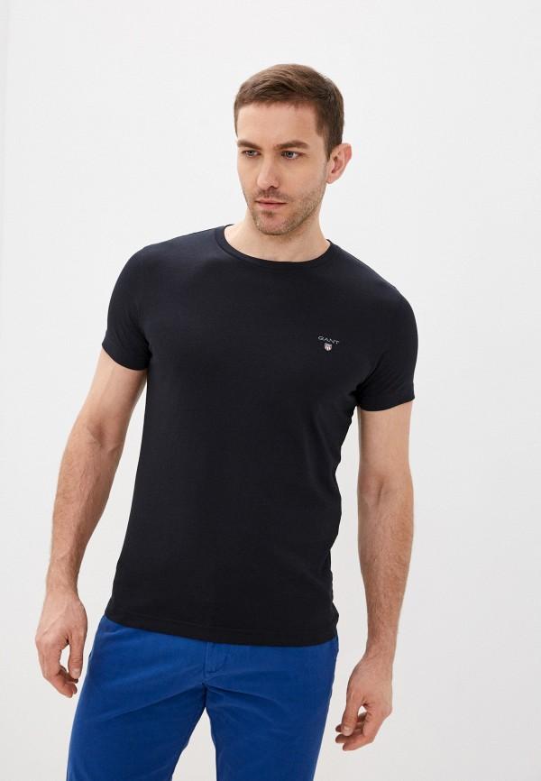 мужская футболка с коротким рукавом gant, черная