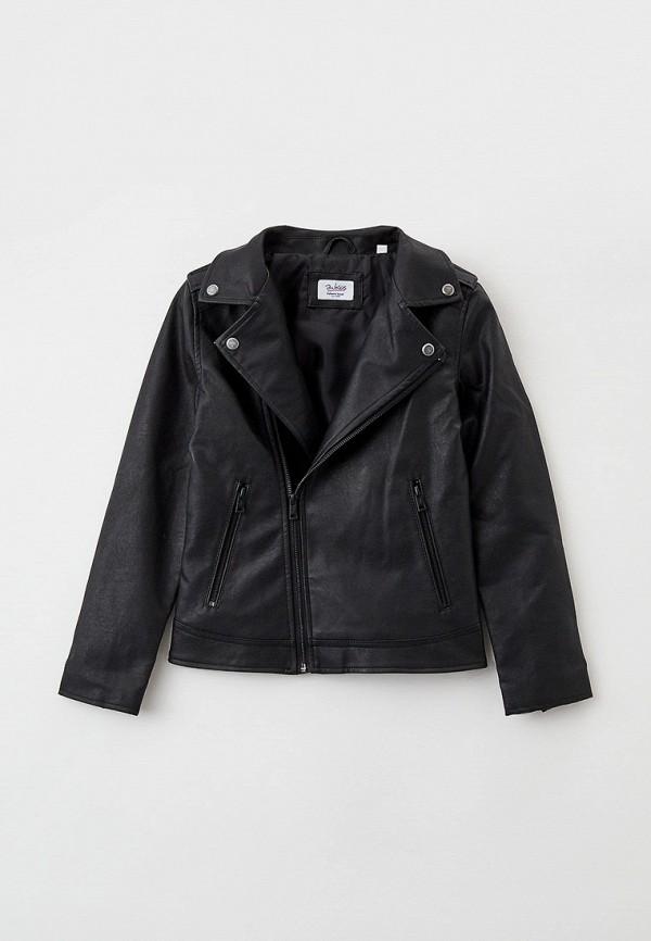 кожаные куртка blukids для мальчика, черная