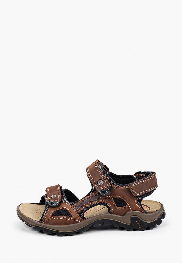 мужские сандалии salamander, коричневые