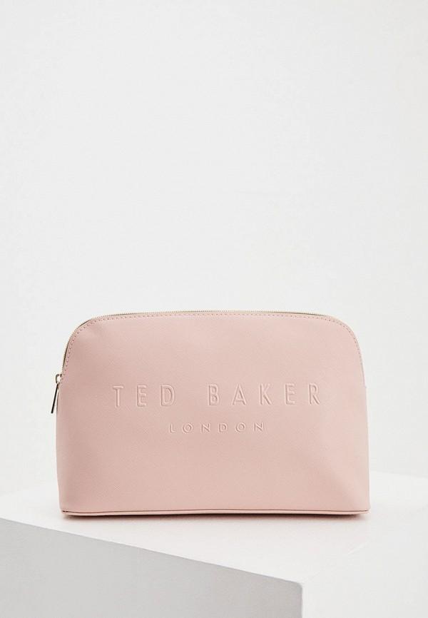 женская косметичка ted baker london, розовая