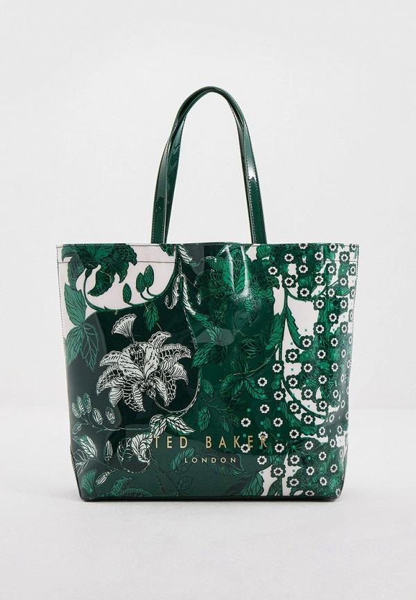 женская сумка-шоперы ted baker london, зеленая