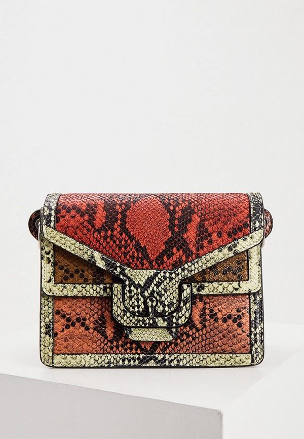 женская сумка с ручками coccinelle, разноцветная