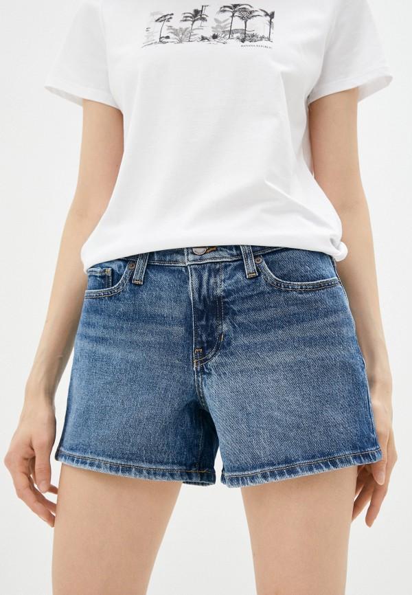 женские джинсовые шорты banana republic, синие
