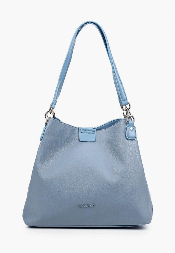 женская сумка с ручками david jones, голубая