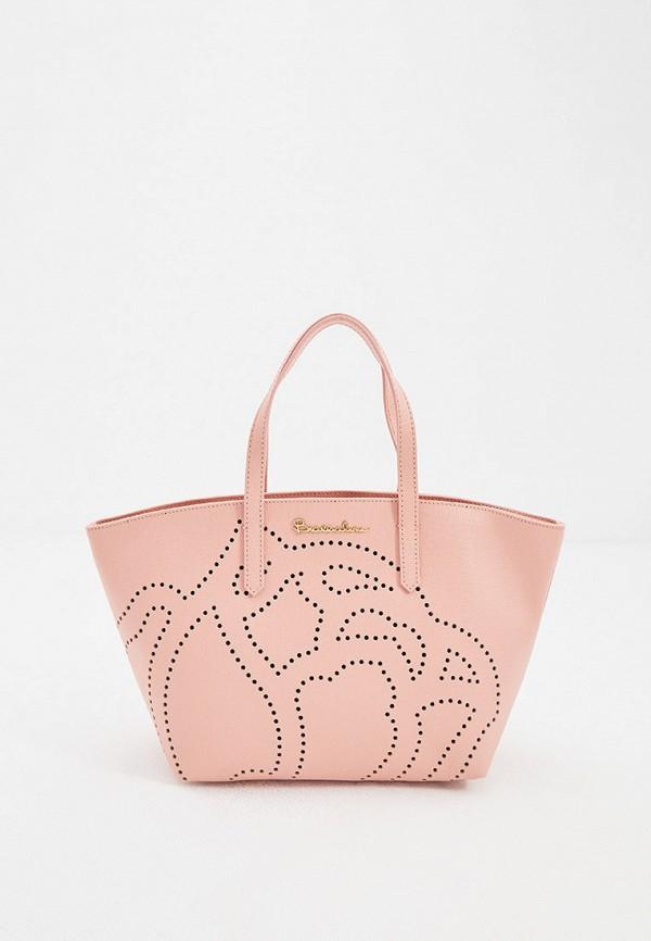 женская сумка с ручками braccialini, розовая