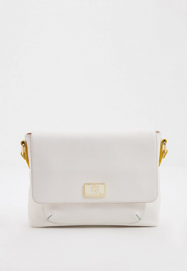 женская сумка через плечо braccialini, белая