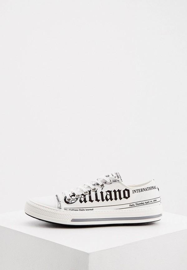 женские низкие кеды john galliano, белые