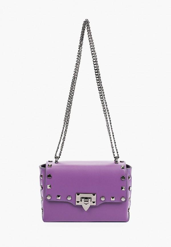 женская сумка с ручками giulia monti, фиолетовая