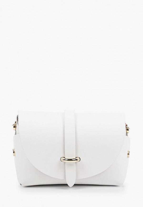 женская сумка через плечо giulia monti, белая