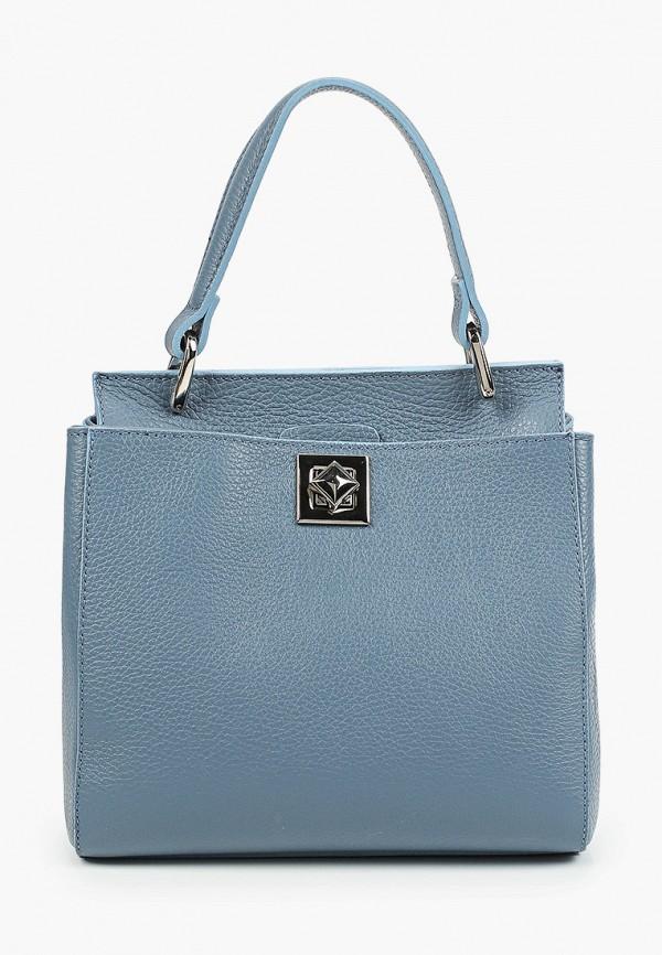 женская сумка с ручками giulia monti, голубая