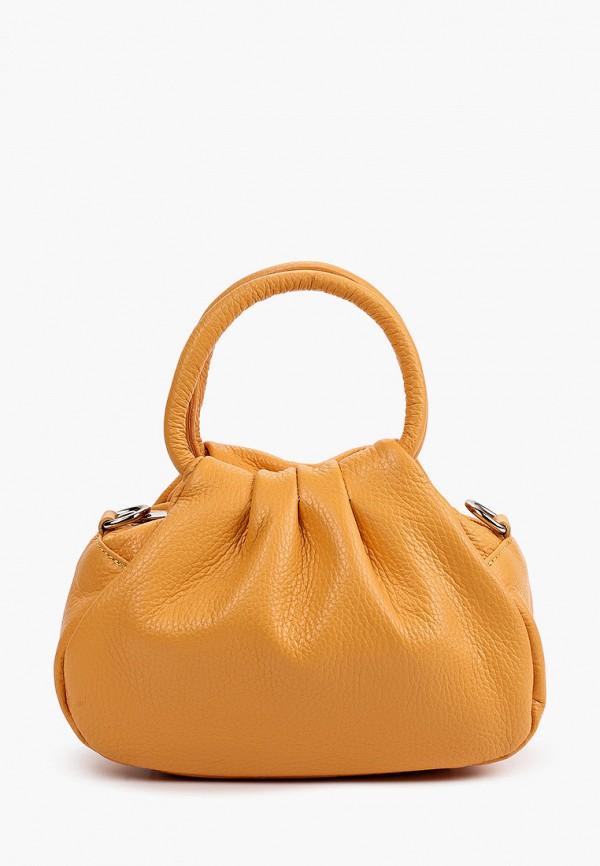 женская сумка с ручками giulia monti, оранжевая