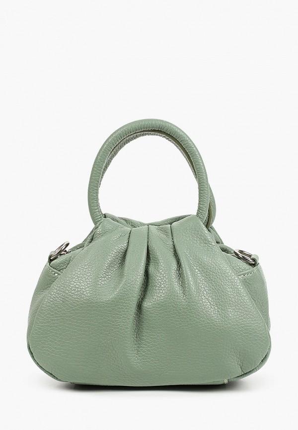 женская сумка с ручками giulia monti, бирюзовая