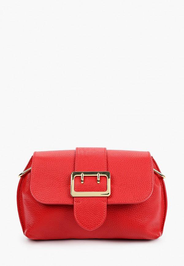 женская сумка через плечо giulia monti, красная