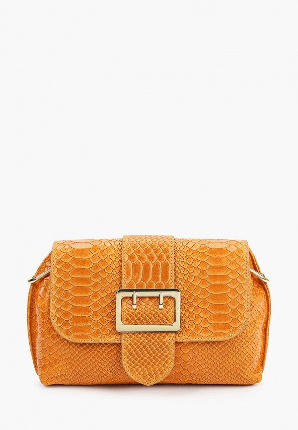 женская сумка через плечо giulia monti, оранжевая