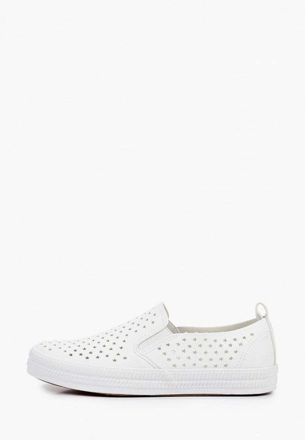 женские низкие слипоны m25, белые
