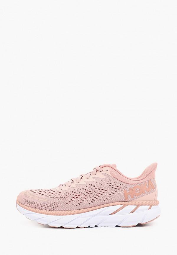 женские низкие кроссовки hoka one one, розовые