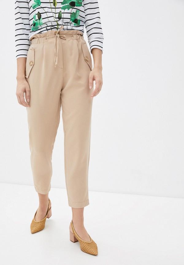 женские брюки koton, бежевые