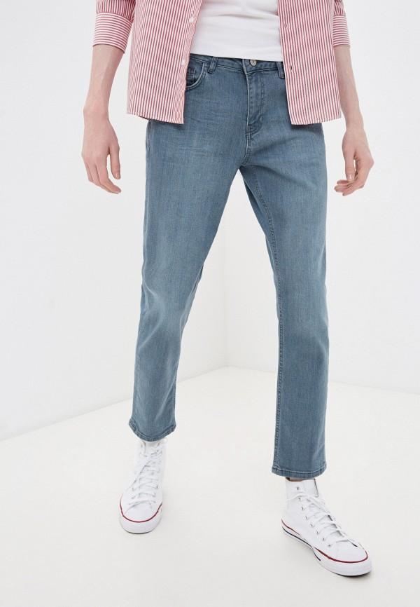 мужские зауженные джинсы koton, голубые