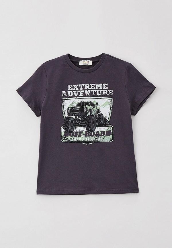 футболка с коротким рукавом koton для мальчика, серая