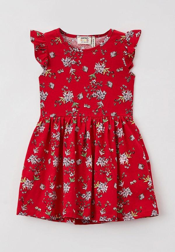 повседневные платье koton для девочки, красное