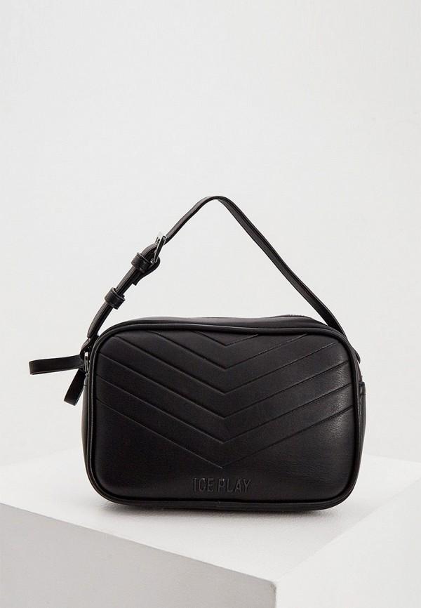 женская сумка с ручками ice play, черная