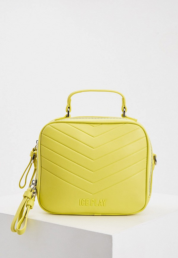 женская сумка с ручками ice play, желтая