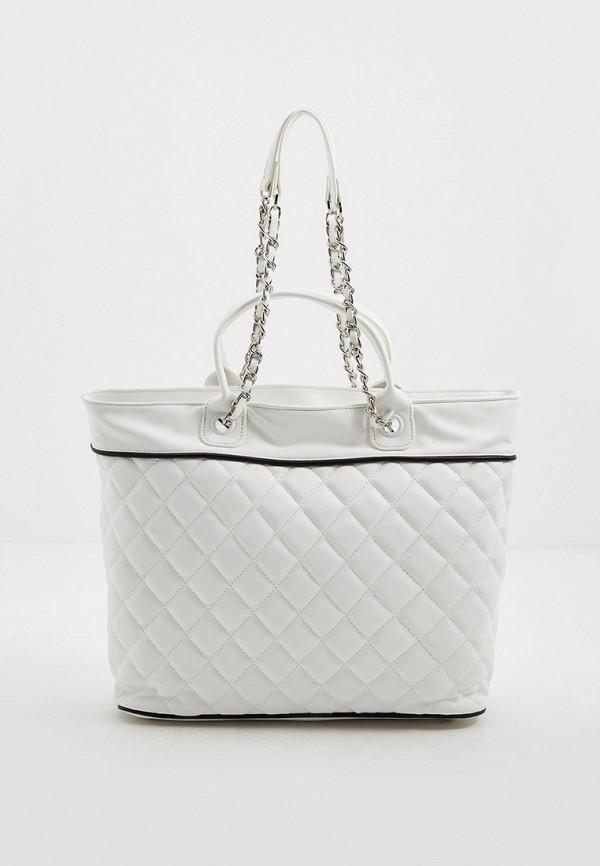 женская сумка с ручками ice play, белая