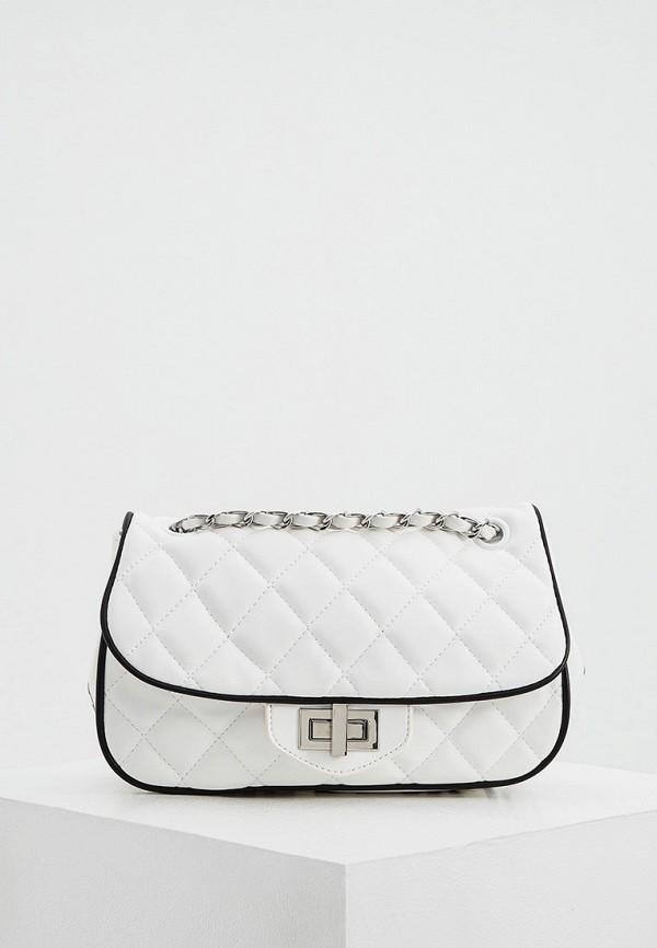 женская сумка через плечо ice play, белая