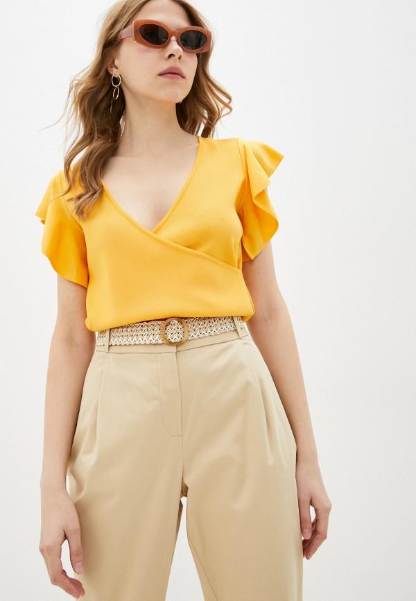 женский пуловер adl, желтый