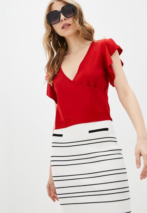женский пуловер adl, красный