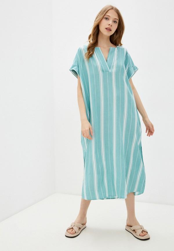женское платье-футболки gant, бирюзовое