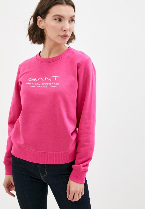 женский свитшот gant, розовый
