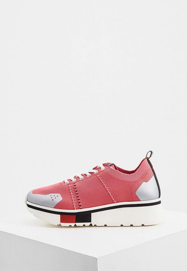 женские низкие кроссовки fabi, розовые