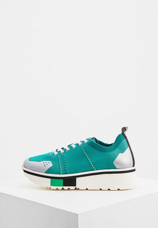женские низкие кроссовки fabi, зеленые