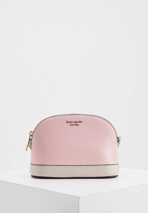 женская сумка через плечо kate spade, розовая