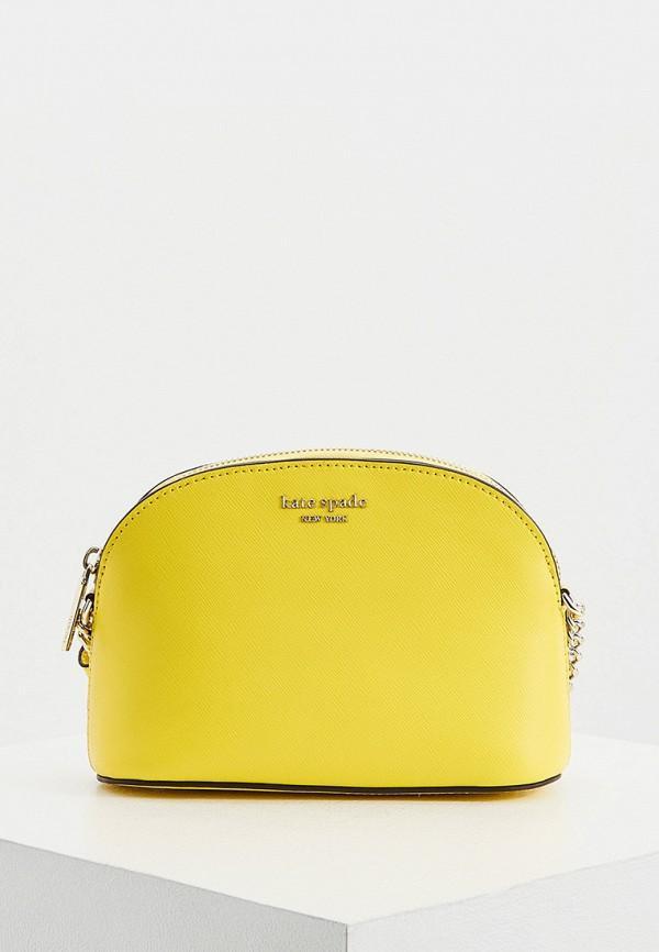 женская сумка через плечо kate spade, желтая