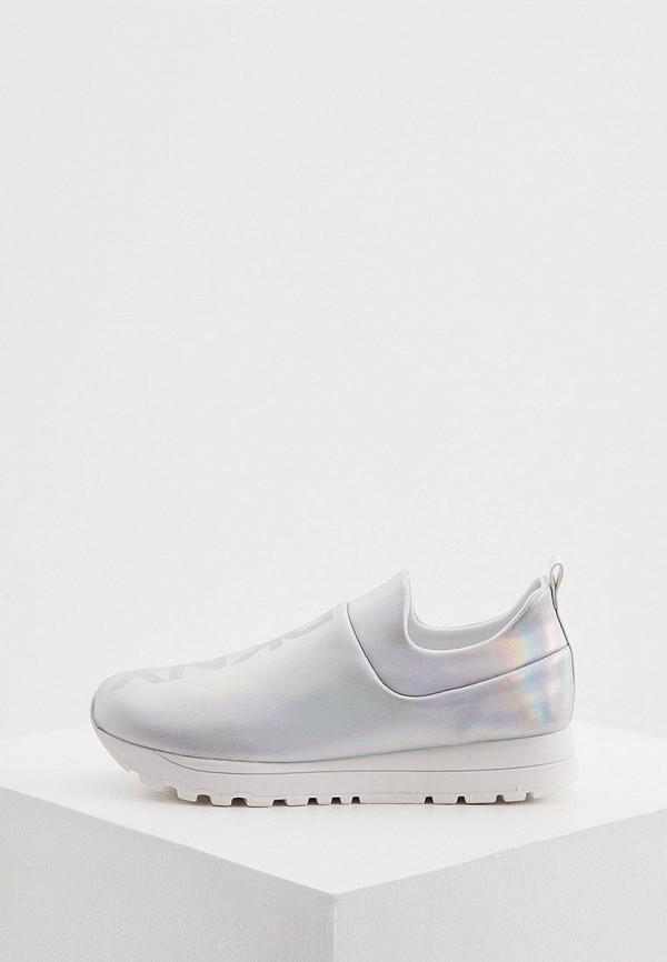 женские низкие кроссовки dkny, серебряные