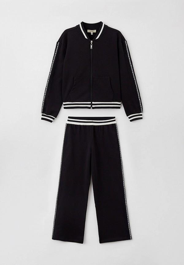 спортивный костюм twinset milano для девочки, черный