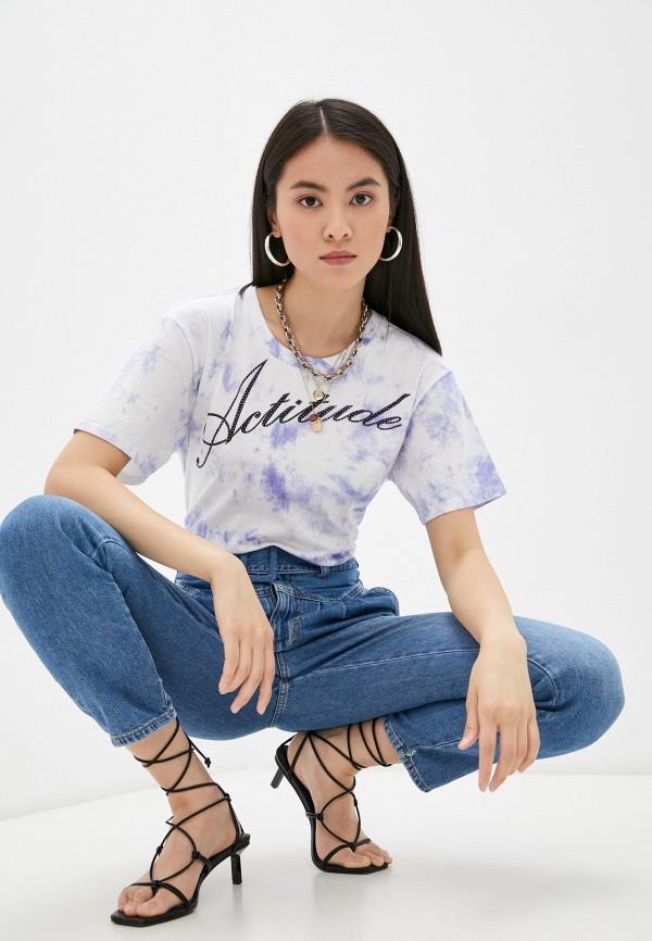 женская футболка twinset milano, фиолетовая