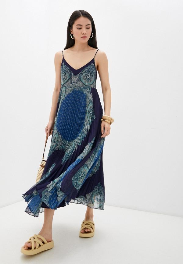 женский сарафан twinset milano, синий