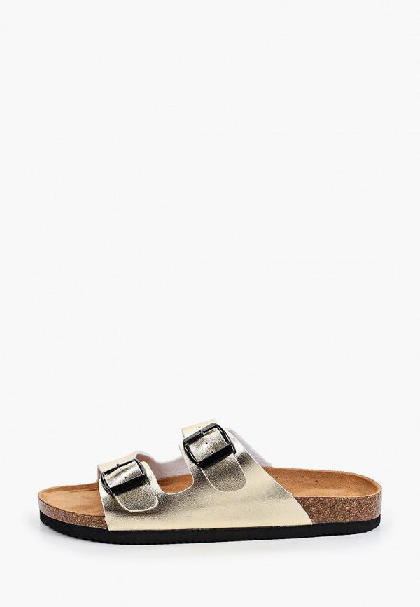 женское сабо ideal shoes, золотое