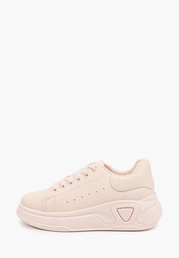 женские низкие кроссовки ideal shoes, розовые