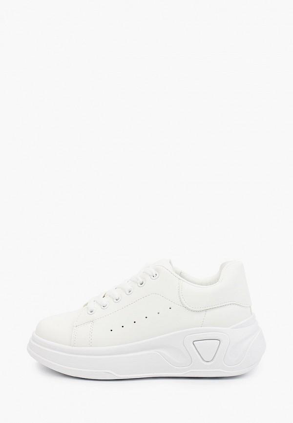 женские низкие кроссовки ideal shoes, белые