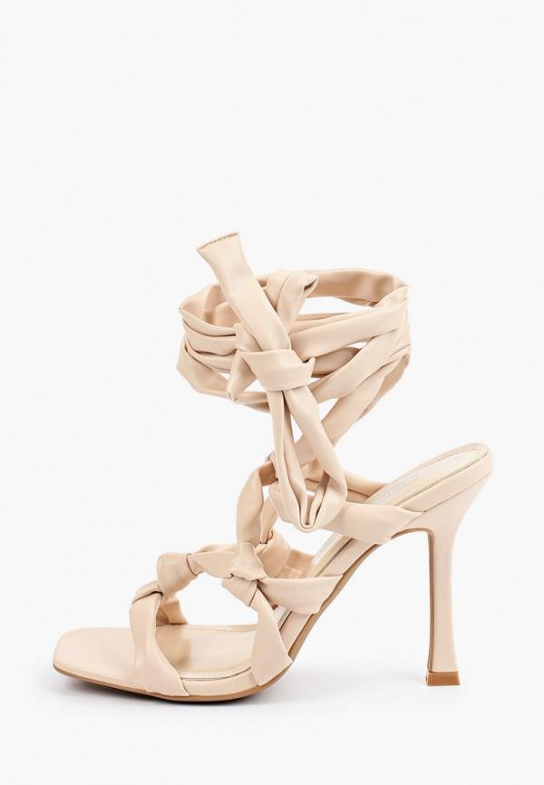 женские босоножки ideal shoes, бежевые