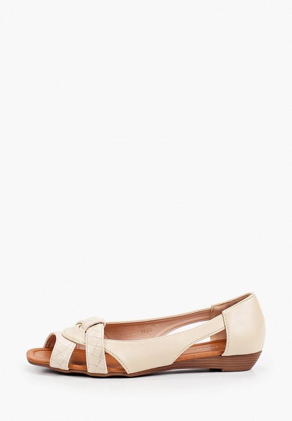 женские балетки ideal shoes, бежевые