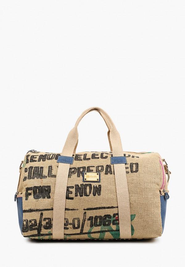 женская дорожные сумка lamania, коричневая